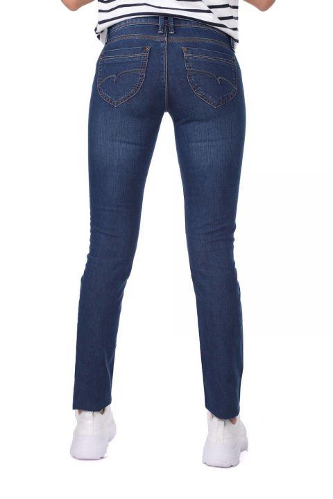 بنطلون جينز نسائيأزرق أبيض