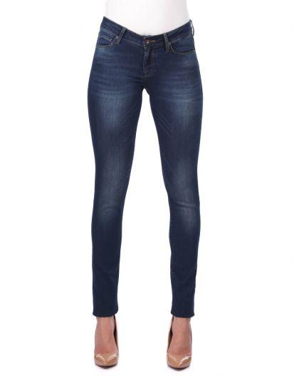 Women's Dark Regular Fit Jean Trousers - Thumbnail