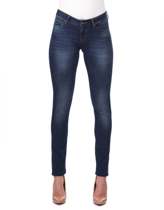 Women's Dark Regular Fit Jean Trousers