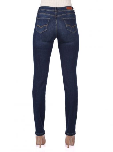 Mid Waist Jeans For Women - Thumbnail