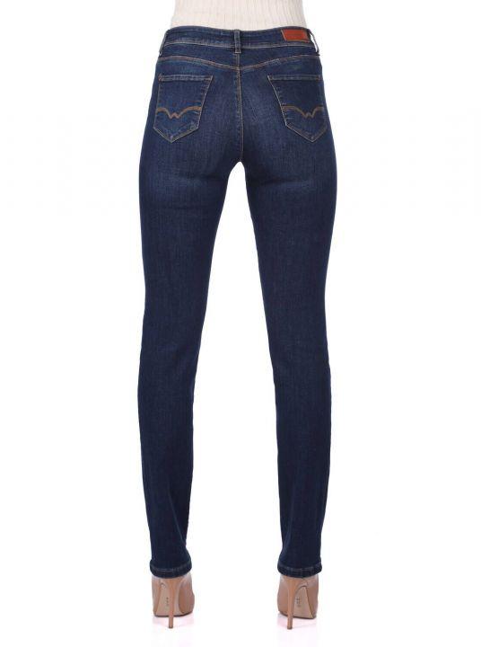 Женские джинсовые брюки со средней талией