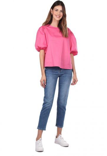 Blue White Regular Fit Women Jeans - Thumbnail