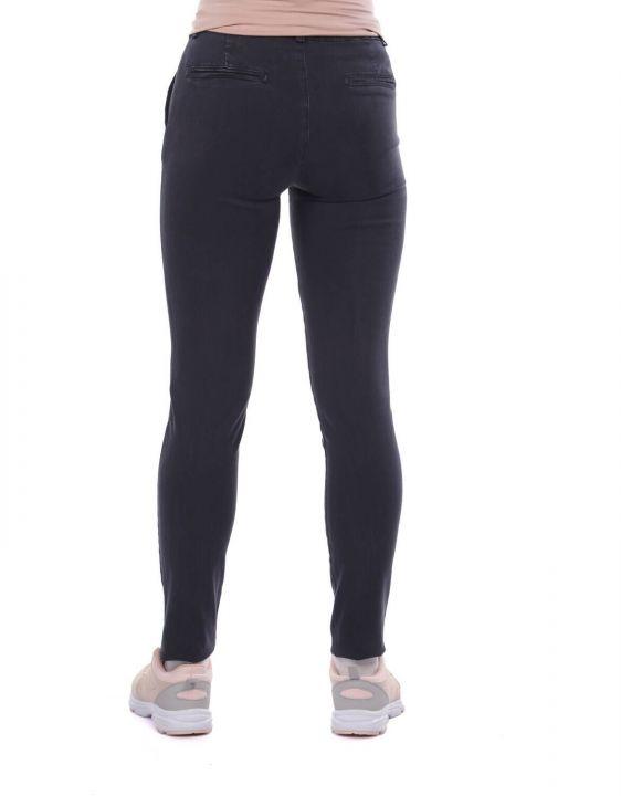 Blue White Women's High Waist Jean Trousers