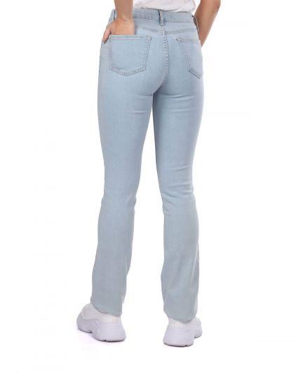 بنطلون جينز أزرق فاتح عادي - Thumbnail