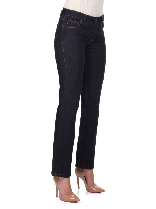 Blue White Women Jean Trousers