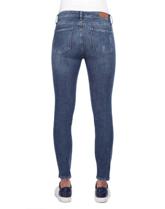 Blue White Skinny Jeans