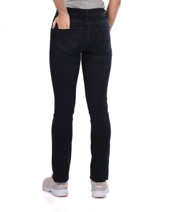 Blue White Women Regular Fit Black Jeans