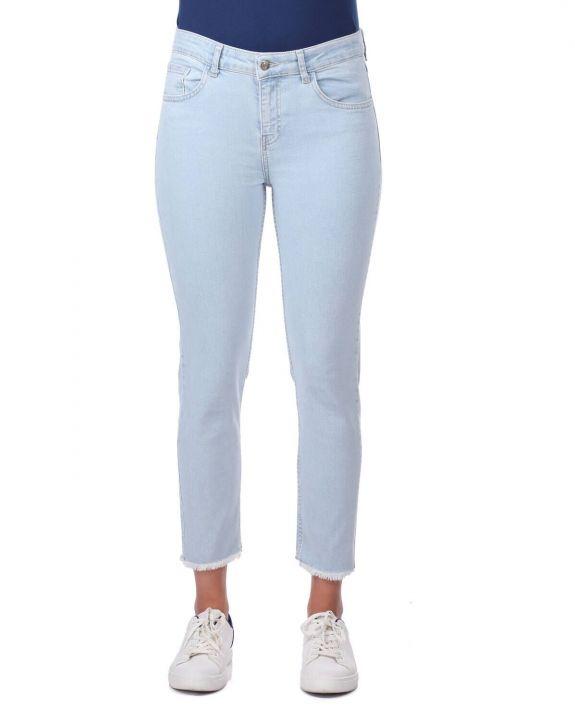 Blue White Jean Trousers