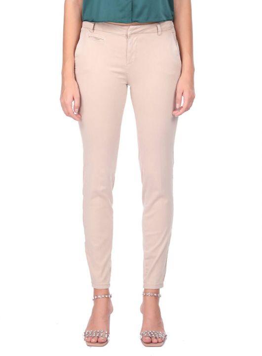 Blue White Ecru Women Jean Trousers