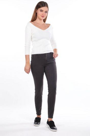 Blue White Jean Trousers - Thumbnail