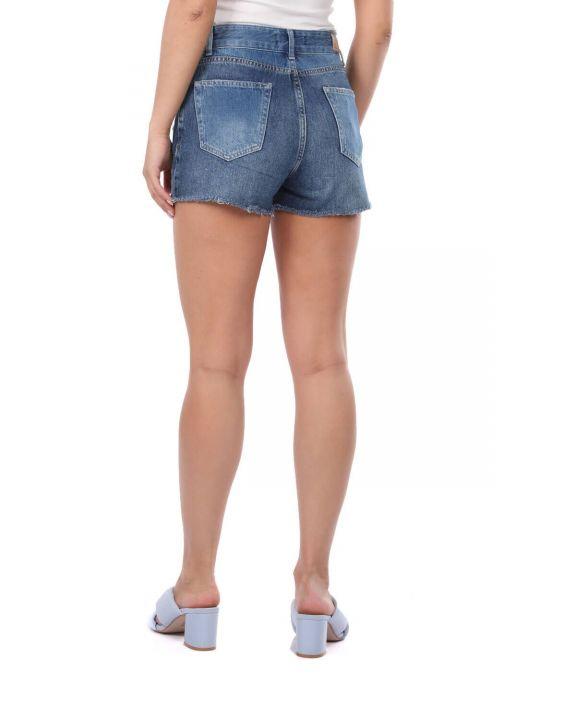 Синие белые женские шорты