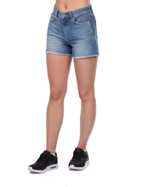 Blue White Women's Shorts
