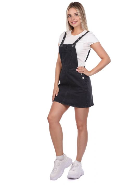 Blue White Women's Jumpsuit Skirt