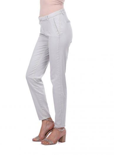 BLUE WHITE - Сине-белыеженские узкие брюки (1)