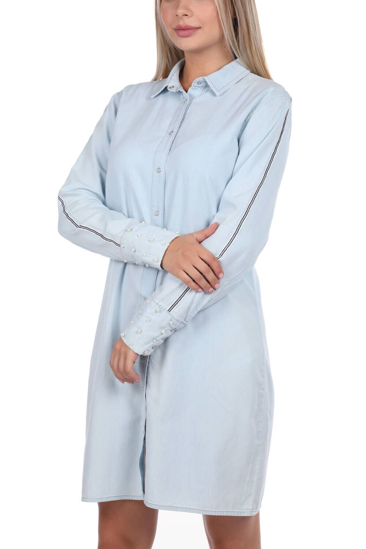 Bny Jeans Düğmeli Kadın Jean Elbise
