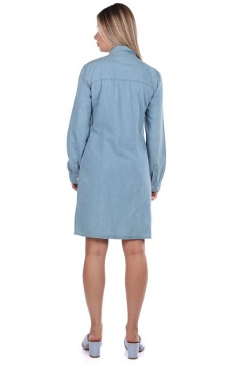 Bny Jeans Woman Jean Dress - Thumbnail