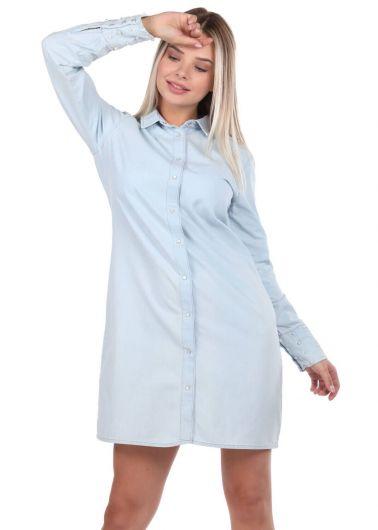 Bny Jeans Woman Jean Dress - Thumbnail