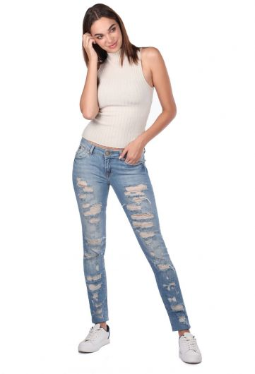 Bny Jeans Woman Jean Trousers - Thumbnail