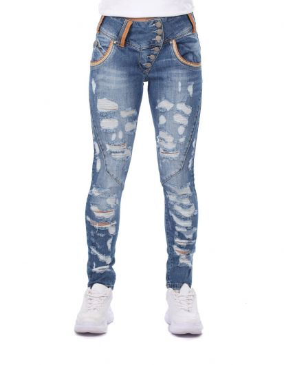 Bny Jeans Women Baggy Jeans - Thumbnail