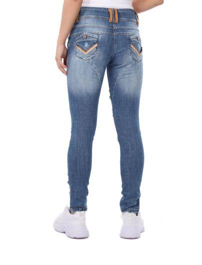 Bny Jeans Women Baggy Jean Trousers - Thumbnail