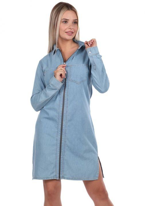 Bny Jeans Zipper Women Jean Dress