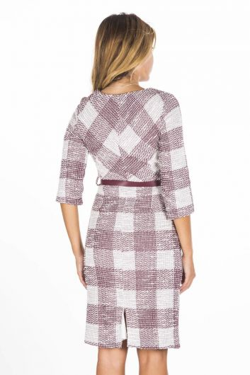 Boutique Uncle Plaid Dress - Thumbnail