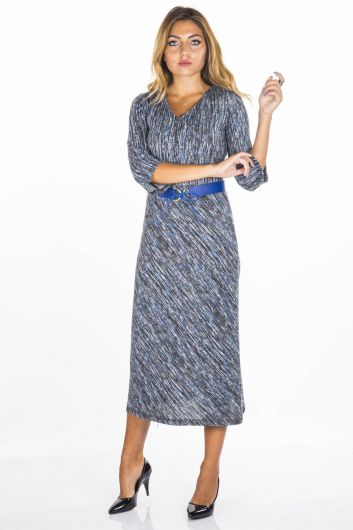 BUTİK DAYI - Uncle Boutique Patterned Dress (1)