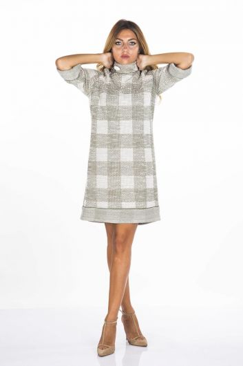BUTİK DAYI - Boutique Uncle Plaid Dress (1)