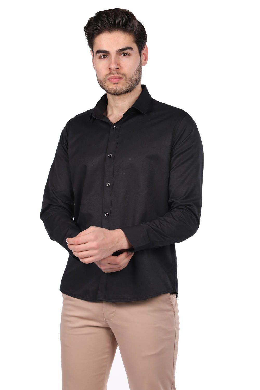 Мужская однотонная рубашка Markapia