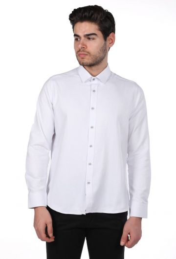 PHAZZ - Мужская однотонная рубашка Markapia (1)