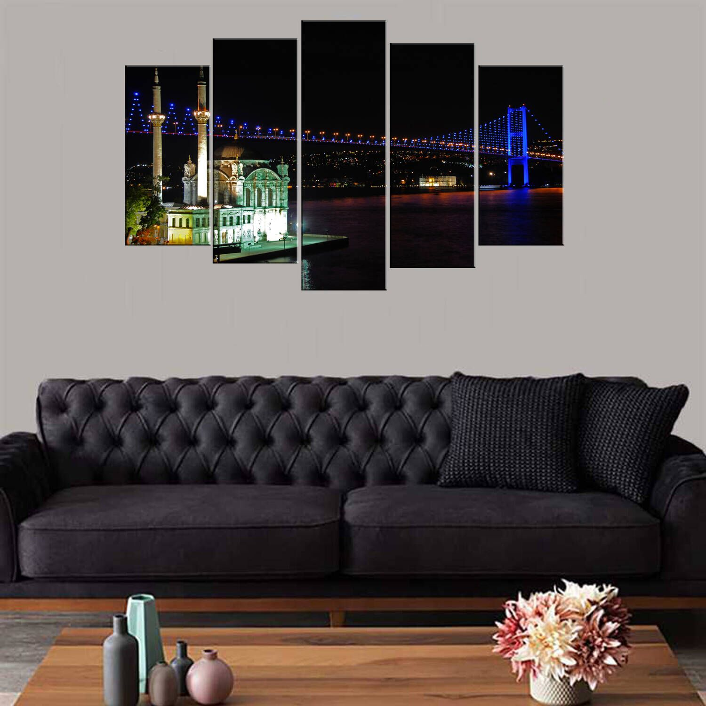 Мечеть с видом на мост 5 частей Mdf Painting