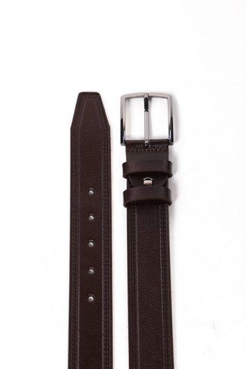 MARKAPIA MAN - حزام جلد طبيعي بني للرجال (1)