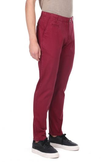 MARKAPIA MAN - Burgundy Men's Chino Pants (1)