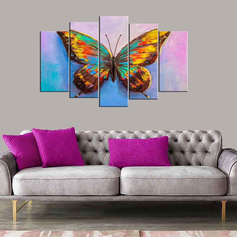 Картина из 5 частей Mdf в стиле бабочки