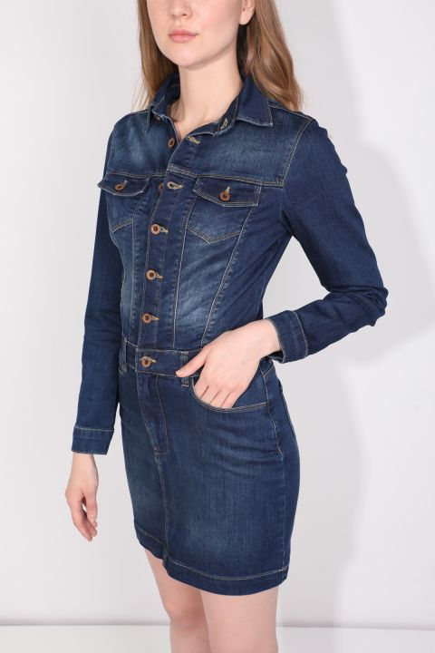 Buttoned Indigo Women's Jean Dress