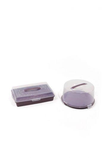 MARKAPIA HOME - Набор контейнеров для хранения и транспортировки торта / кондитерских изделий из 2 шт. (1)