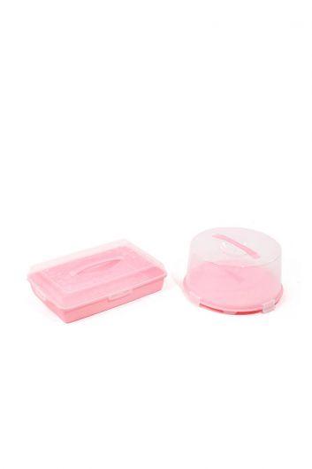 Набор контейнеров для хранения и транспортировки торта / кондитерских изделий из 2 шт. - Thumbnail