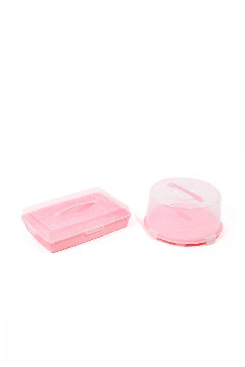 Набор контейнеров для хранения и транспортировки торта / кондитерских изделий из 2 шт.