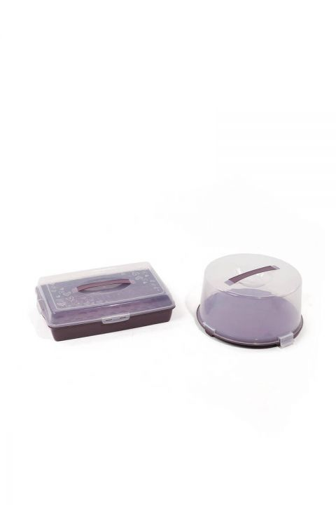 Cake / Pastry Storage and Transport Container Set of 2