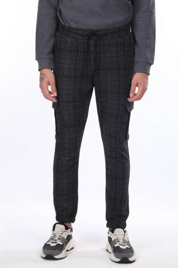 MARKAPIA MAN - Мужские брюки в клетку с карманами карго (1)