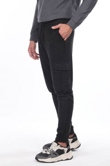 MARKAPIA MAN - Plaid Trousers With Cargo Pockets (1)