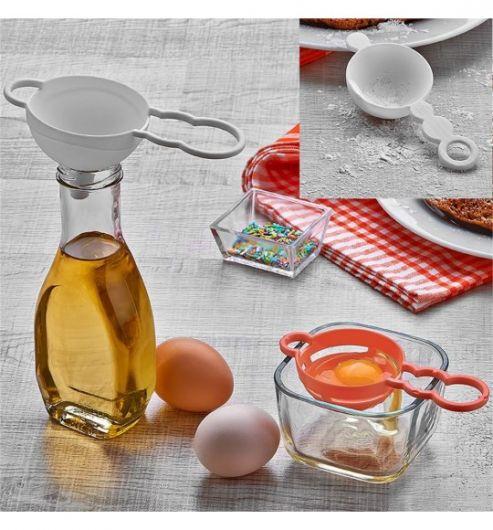 Ситечко для чая, воронка и сепаратор для яиц - Thumbnail