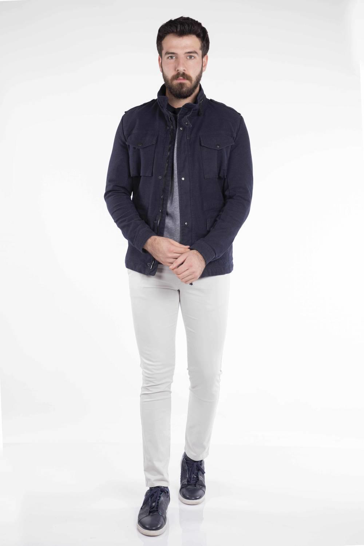 Cep Detaylı Erkek Jean Ceket