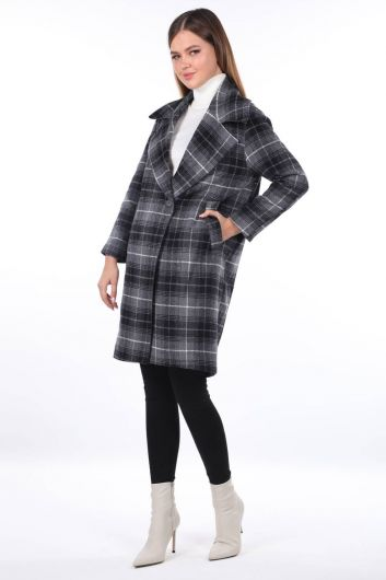 MARKAPİA WOMAN - Plaid Patterned Cachet Coat (1)