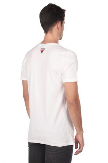 Мужская футболка с короткими рукавами и круглым вырезом с тиснением - Thumbnail