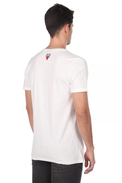 Embossed Men's Short Sleeve Crew Neck T-Shirt