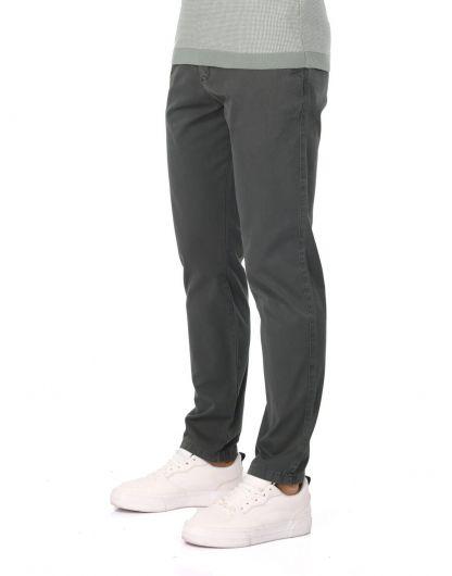 MARKAPIA MAN - سروال تشينو أخضر داكن للرجال (1)