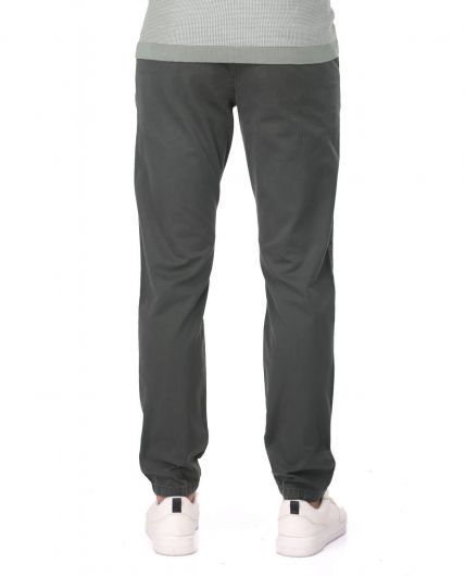 Dark Green Men's Chino Pants - Thumbnail
