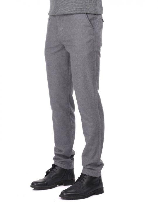 Gri Erkek Chino Pantolon