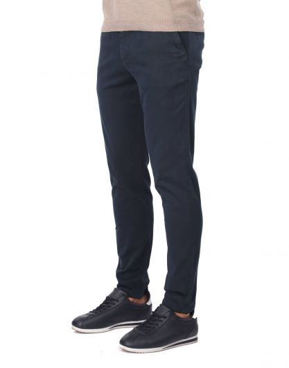 MARKAPIA MAN - Dark Navy Blue Men's Chino Pants (1)